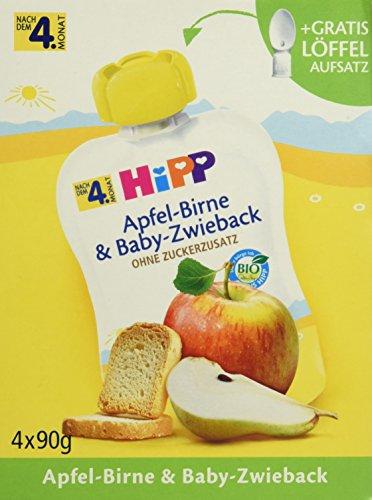 Preisvergleich Produktbild HiPP Apfel-Birne und Baby-Zwieback,  4er Pack (4 x 90 g)