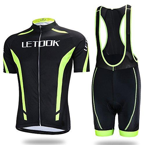 Letook Maillots Ciclismo Hombre Conjunto de Ropa Verano Bicicleta Manga Corta +Pantalones Cortos