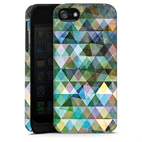 Apple iPhone 5 Housse Étui Silicone Coque Protection Motif Motif Couleurs Cas Tough terne