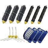FBSHOP(TM) Aero Vac Filtro y cepillo de cerda y Flexible Beater Cepillo y 3-Armado Side Brush Pack de Reposición Mega Kit para iRobot Roomba serie 600 (620 630 650 660 680) de vacío Robots de limpieza