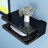 Amazing Shoppee Set Top Box Holder Wall Shelf wall mount (Standard, Black)