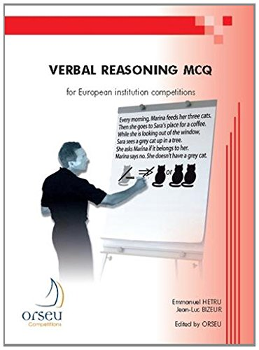 Verbal reasoning MCQ for European institution competitions par Emmanuel Hetru, Jean-Luc Bizeur