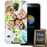 dessana Eigenes Foto transparente Schutzhülle Handy Tasche Case für Samsung Galaxy S5/Neo