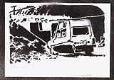 Poster Auto Renault 4L Handmade Graffiti Street Art - Artwork