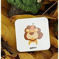 Square Animal Contact Lens Case Portable Myopia Beauty Box Invisible Mate Storage Box(Lion)