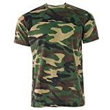 Herren Game Wald Tarnfarbe Militär Armee Jagd Fischen T-shirt - Grünen, Browns, XXXXXL
