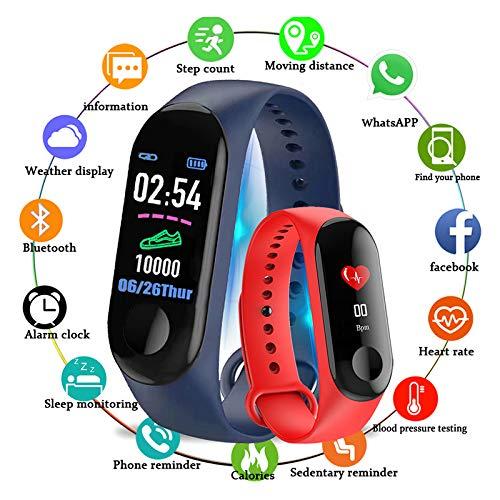 Imagen de braccialetto fitness  m3 impermeable ip67 pulsera de actividad reloj inteligente con pulsómetro y presión arterial relojes deportivos gps pantalla táctil a color negro  alternativa
