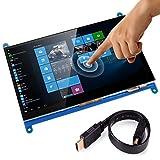 Longruner Monitor Hdmi 7 Pollici Inch Touch Screen Display TFT LCD Modulo HDMI 800x480 per Raspberry Pi 3 2 Modello B e RPi 1 B + A BB PC Sistemi vari LSC7B
