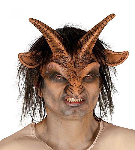 Faunus Waldgeist Latex Maske Ziegenbock Mensch Gott Waldgeist Faun Naturgott Mythologie