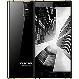 "OUKITEL K3 Smartphone Baratos 4G Android 7.0 Telefonos Moviles Libres 6000mAh 5,5""FHD Dual 2.5D Curvada Pantalla OctaCore Dual 2.0MP+Dual 16.0MP Cámara 4GB RAM+64GB ROM Huella Digital OTG-Negro"