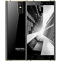 "OUKITEL K3 Smartphone Baratos 4G Android 7.0 Teléfonos Moviles Libres 6000mAh 5,5""FHD Dual 2,5D Curvada PantallaOctaCore Dual 2.0MP+Dual 16.0MP Cámara 4GB RAM + 64GB ROM Huella Digital OTG-Negro"