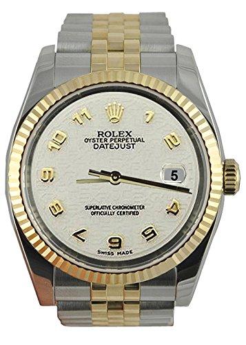 Rolex Datejust Arabisch Uhr SS & Gelbgold Jubiläumsarmband