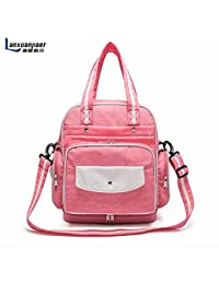 Rose Red : Multifunctional Baby Diaper Bags Backpacks Mummy Nappy Changing Maternity Travel Women Messenger Handbag...