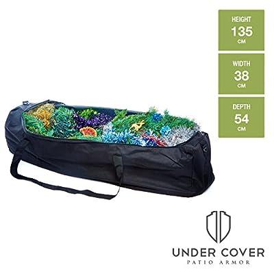 Christmas Tree / Decorations / Cushion Storage Bag - Strong & Durable Premium High Grade Waterproof UV Cover - Black - Toughest on Amazon Guaranteed.