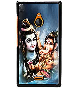 ColourCraft Lord Shiva With Ganesha Design Back Case Cover for NOKIA XL