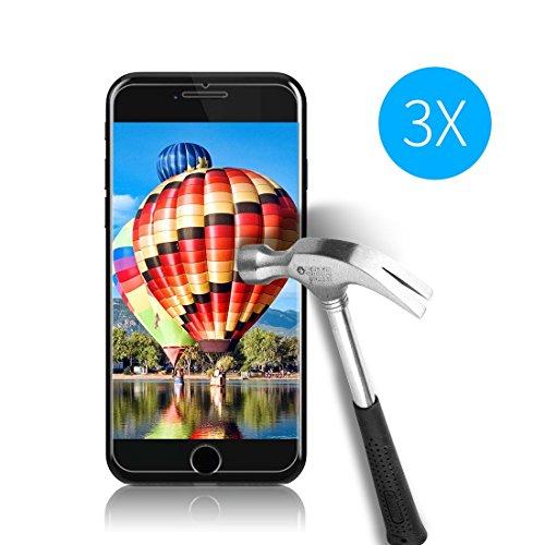 Cardana | 3X bruchsicheres Schutzglas für iPhone 6 / 6S / 7 Schutzfolie aus 9H Echt Glas | angenehme Handhabung | Schutzglas zum Schutz vor Displayschäden | blasenfreie Anbringung | 3 Stück