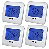 Kaleep 4x LCD Blau Touchscreen Digital Programmierbar Thermostat Wochenprogramm Fußbodenheizung Raumthermostat