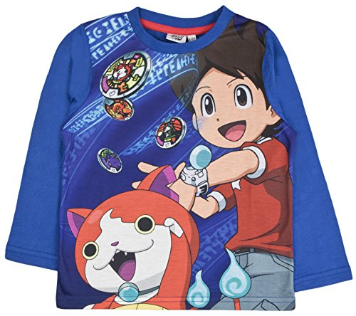 Yo-kai Watch Boys Long Sleeved T Shirt Childrens Character Top Tee Kids Size 4-12 Years
