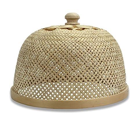 Small Thai Bamboo Lampshade, or Food Cover - 26cm diameter