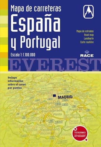 Mapa de carreteras de España y Portugal. 1:1.100.000: Cartografía digital georreferenciada. (Mapas de carreteras)