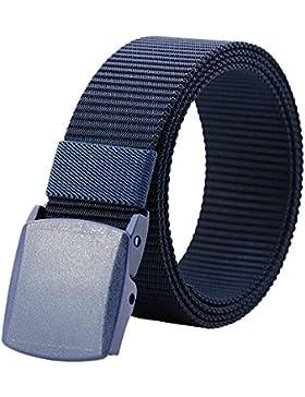 Kusun Nylon Correa Transpirable Hombres Aire Libre Impermeable Cinturón Cinta Hebilla De Plástico YKK 49,2