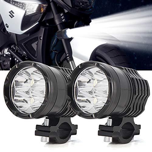 Faros Auxiliares de Moto,40W Foco LED Moto Faros Largo Alcance Luces de...