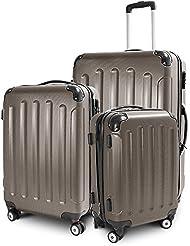 Kofferset 3-teilig Reisekoffer Trolley Hartschalenkoffer ABS Teleskopgriff