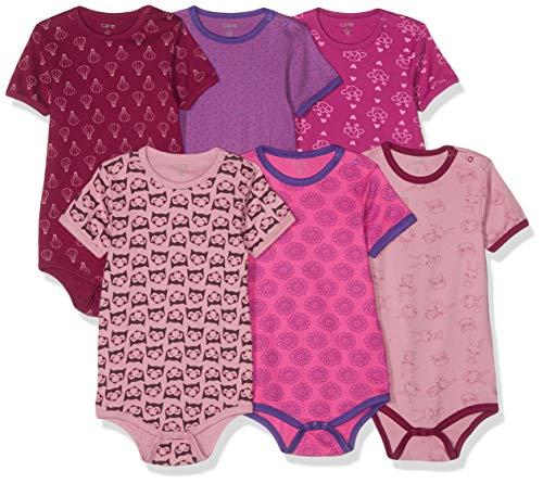 Care Baby - Mädchen Kurzarm-Body 3er und 6er Pack Pink (Light Rose 550), Herstellergröße: 50