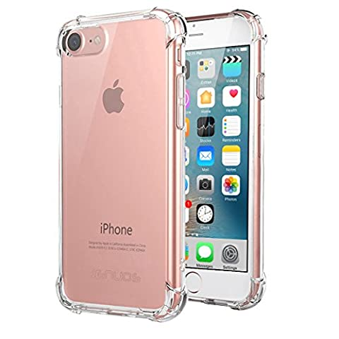Coque iPhone 8, Coque iPhone 7, Jenuos Housse Etui Bumper Protection en TPU Silicone Gel Clair Crystal Cover pour iPhone 7 et iPhone 8 (4.7