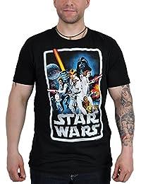 LOGOSHIRT tee t-shirt homme rétro pour pOSTER star wars noir taille m