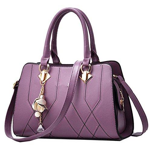 Borsa A Tracolla Tote Bag Da Donna Borsa Grande Borsa Elegante Borsa Shopper Borsa A Mano In Pelle PU Borsa A Mano Purple