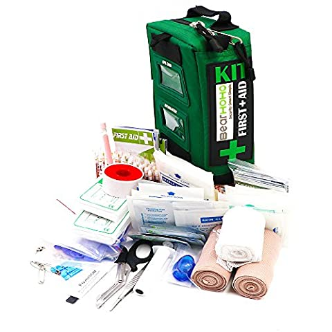 BearHoHo Handy First Aid Kit Bag Emergency Survival Medical Kit For Home Workplace Outdoor Caravan Camping Hiking Travel backpack With CPR Kit 165-Piece (With