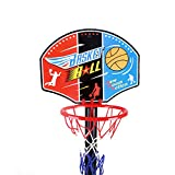 Enlarge toy image: Adjust Children Kids Junior Basketball Hoop And Stand Ball Pump Backboard Set and Ball Indoor Outdoor Fun Toys Activities Boy Kids For 3 years older Christmas Gift (3 years) Toddler Baby Sports