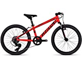 Ghost Kato Kid 2.0 AL U 20R Kinder Mountain Bike 2018 (27cm, Neon Red/Night Black)