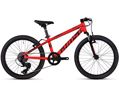 Ghost Kato Kid 2.0 AL U 20R Kinder Mountain Bike 2018 (27cm, Neon Red/Night Black)