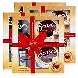 4x Senseo Geschenkset, 4-tlg, Café Latte & Cappuccino Choco + Kakaostreuer & Schablone