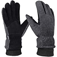 OKELAY Thermal Gloves Men Women Waterproof, Touch Screen Winter Gloves, Cycling Gloves Warm Hands for Outdoor Motorcycling Walking Skiing Running (Small, Medium, Large, X-Large)