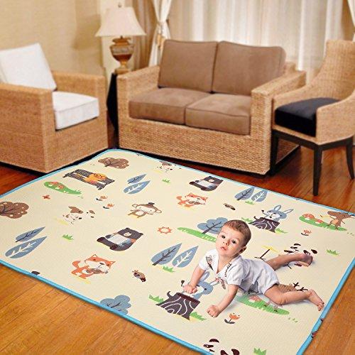 Kinderspielteppich Spielmatte Große für spielende und krabbelnde Kinder 180 x 150 CM EU Stock