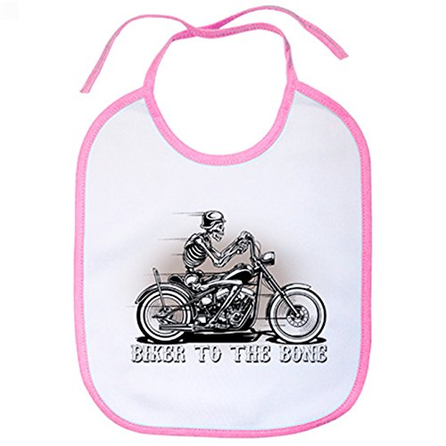 Babero para moteros Biker To The Bone - Rosa
