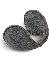 Orejeras orejeras de forro polar con cuello, gris, talla única