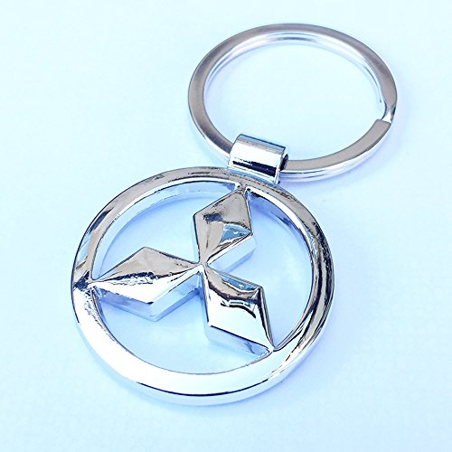 itech-r-mitsubishi-chrome-metal-car-logo-keyring-key-fob-keychain