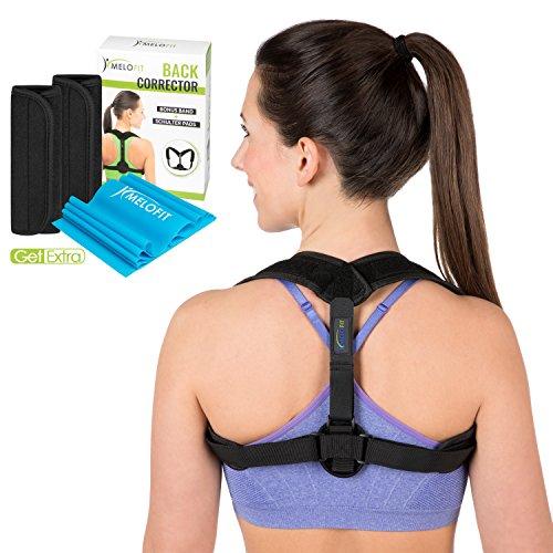 Geradehalter Set für Damen & Herren - Haltungskorrektur in verstellbarer Einheitsgröße - Rückentrainer gegen Nacken- und Schulterschmerzen