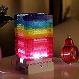 DIY Bunte Tischlampe Puzzle Bausteine Tischleuchte 2017 Neueste Dekorative LED Tischlampe Nachtlicht kinder spielzeug von HW_Mann