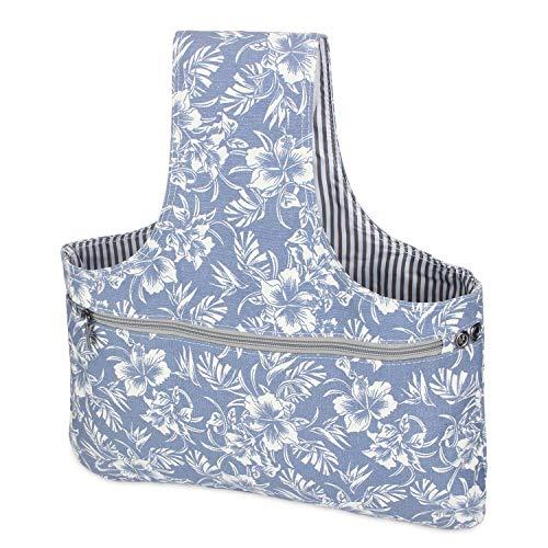 Teamoy tragbar Aufbewarungstasche für wolle, Häken (nicht mehr als 14 Zoll/ 35.5cm), leicht zu tragen, praktisch für wolle, Blumen -