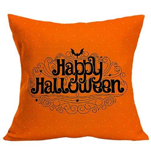 Bluestercool Halloween-Thema Komisch Bettwäsche aus Baumwolle Kissenbezüge Sofa Kissenbezug 18