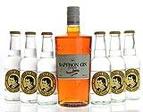 Saffron Gin Boudier & 6 x Thomas Henry Tonic Water Set