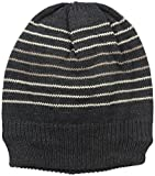 Muk Luks Men's Beanie-Grey Stripe