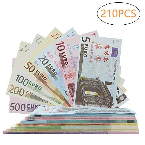 r, Color You 210 Stück Papiergeld, Rechengeld für Spielzeug Kasse | Spielwaren Kaufmannsladen 5, 10, 20, 50, 100, 200, 500 EURO ()