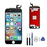 Für iPhone 6s Display for iPhone 6s LCD Display Touchscreen Glas Reparatur Digitizer Ersatz Frei Tools Set für iPhone 6S (Schwarz)