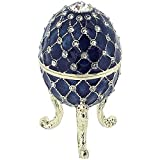 Juliana for Women Blue Pretty Ratchet Figure Faberge Eggs Brand Box Style Boxed